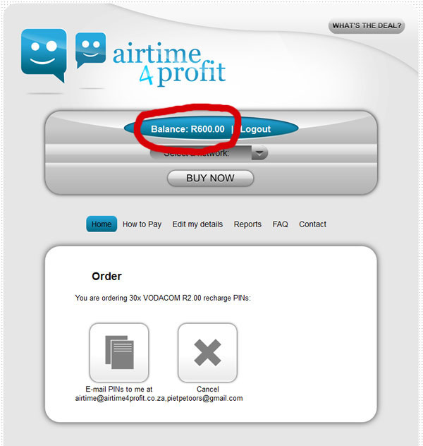 Buy multiple airtime vouchers